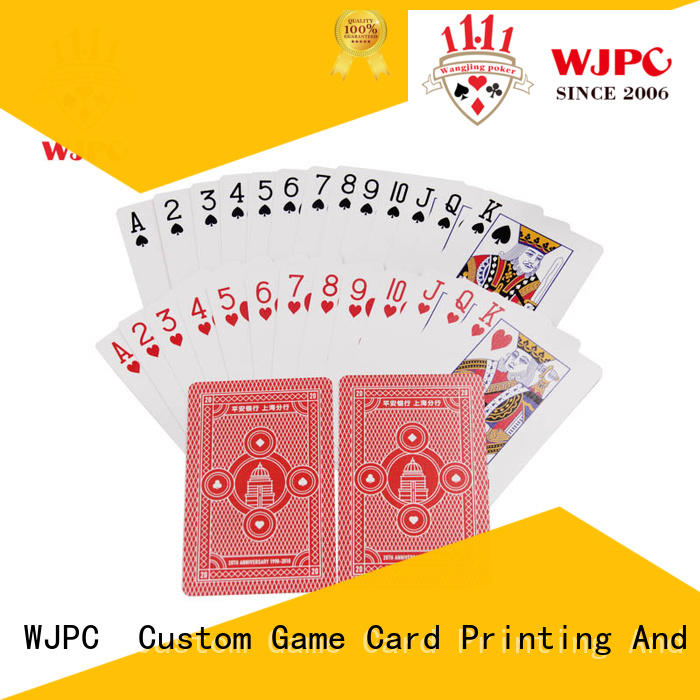 WJPC printed playing cards 100 plastic Suppliers for board game