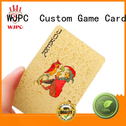 WJPC color custom playing cards in china for bar