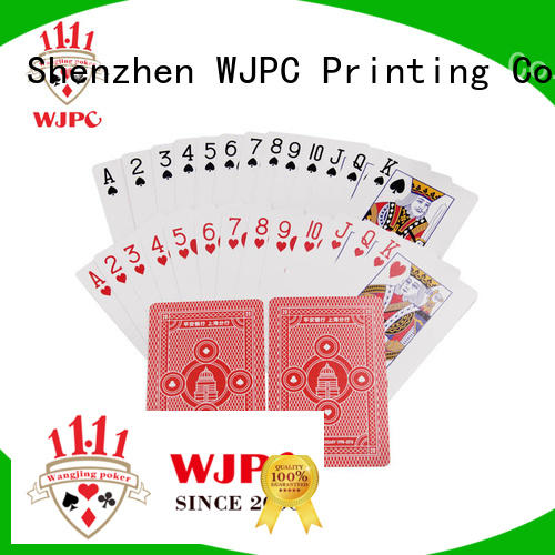 WJPC New playing cards custom printing for business for bar