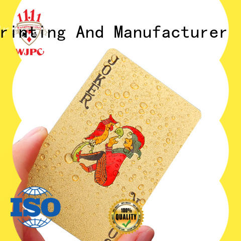 new arrival plastic poker cards playing environmentally friendly for kindergarten