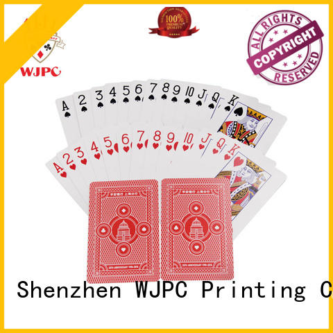 WJPC customized custom poker cards manufacturer for board game