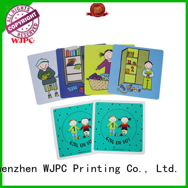WJPC high-quality educational card educational for early learning centre