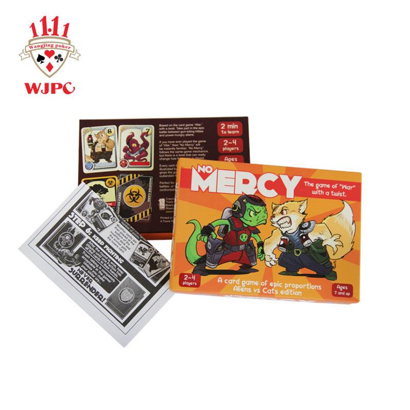WJPC pvc custom game card printing manufacturing for board game
