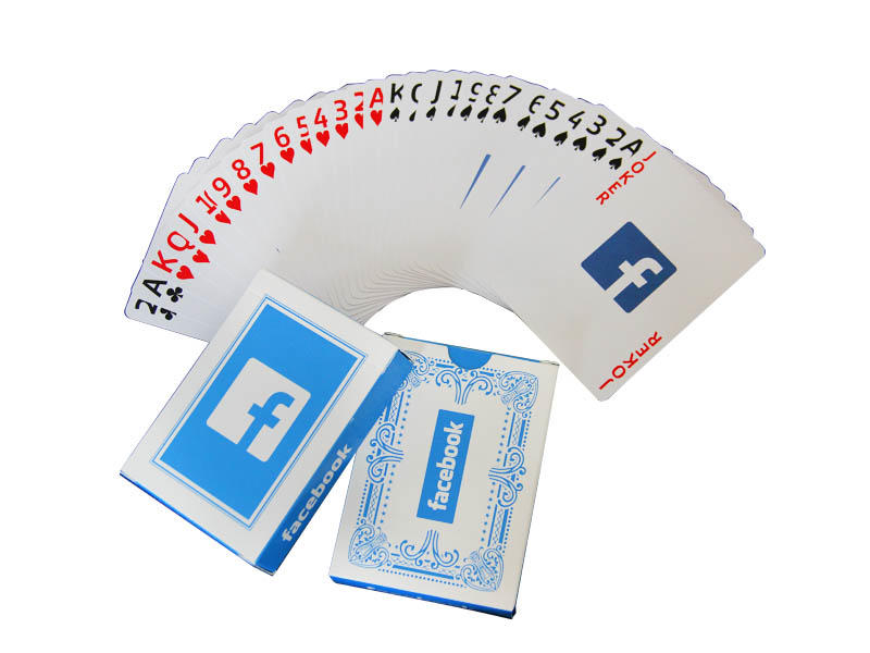 WJPC durable promotional playing cards for casino