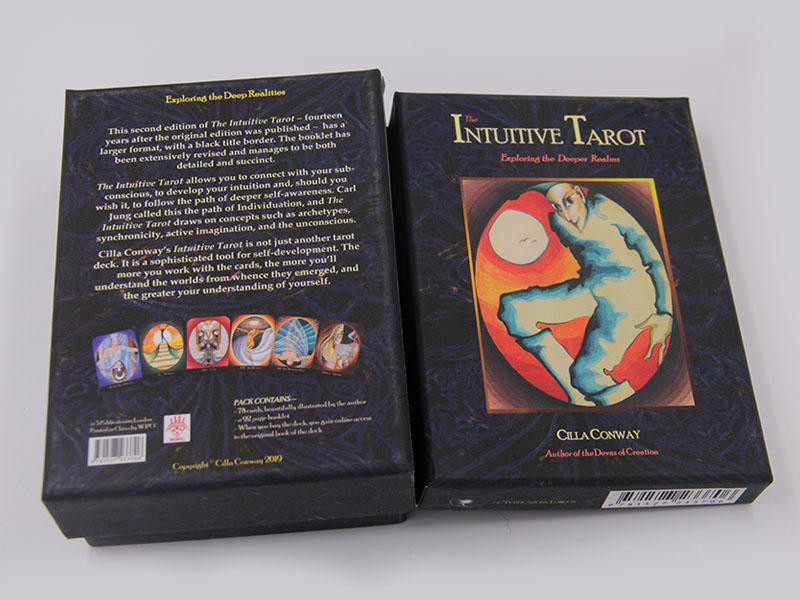 semi-glossy tarot cards with book customized Supply for game