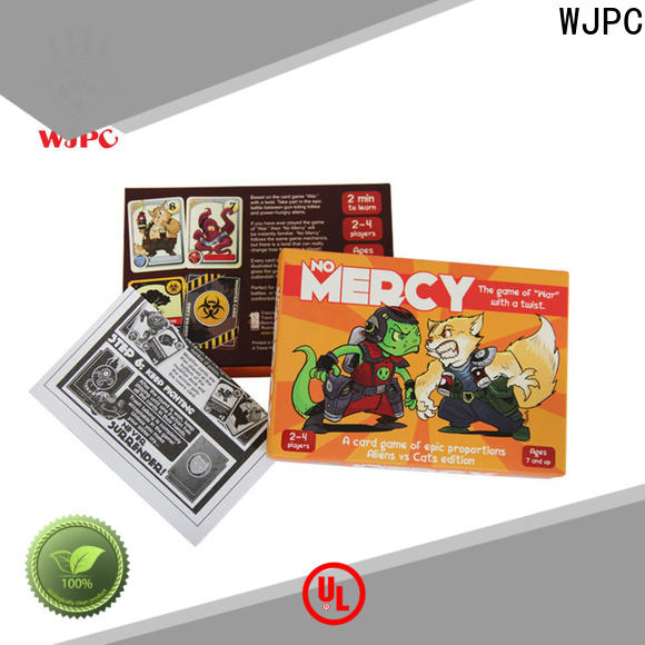 WJPC Custom custom game cards for casino