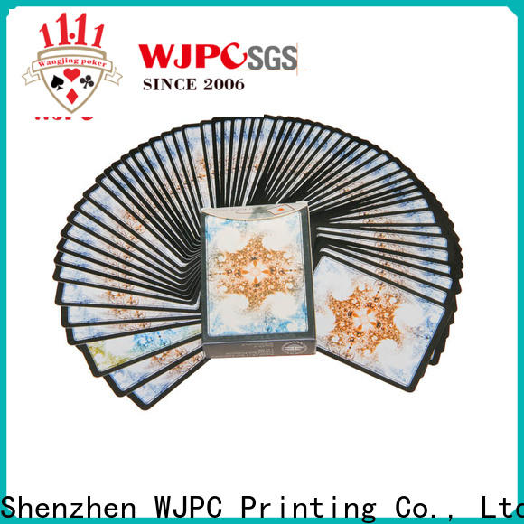 WJPC High-quality plastic poker cards review company for children