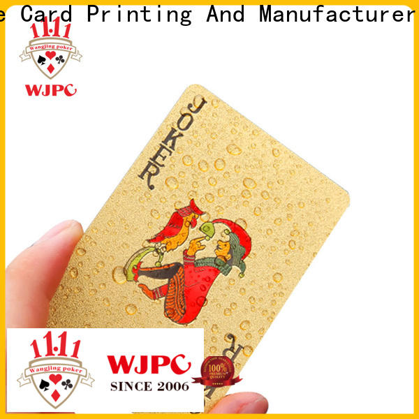 Top plastic playing cards plastic manufacturers for board game