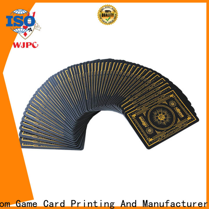 WJPC Top design your playing cards factory for game