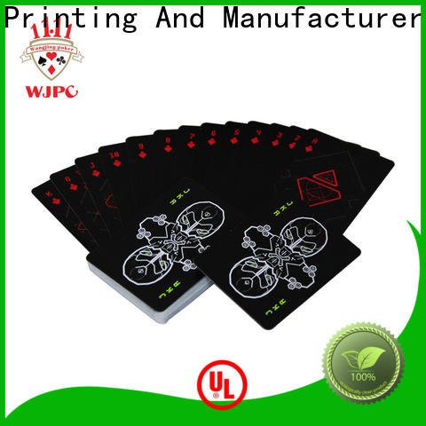 WJPC durable official poker cards company for bar