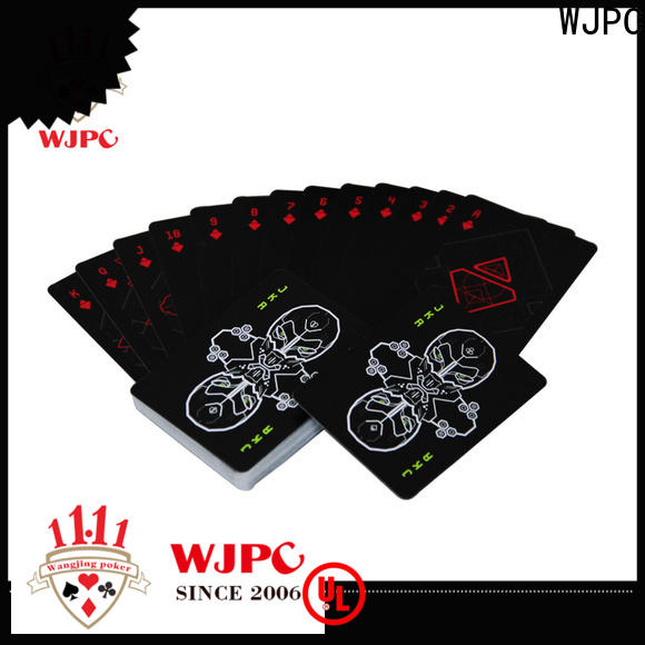 WJPC customized plastic casino playing cards Suppliers for game