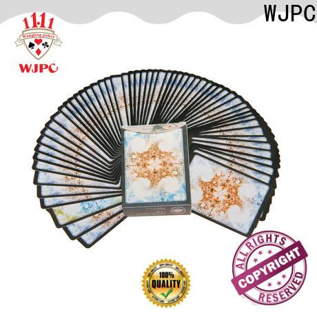 WJPC durable plastic bridge cards factory for game
