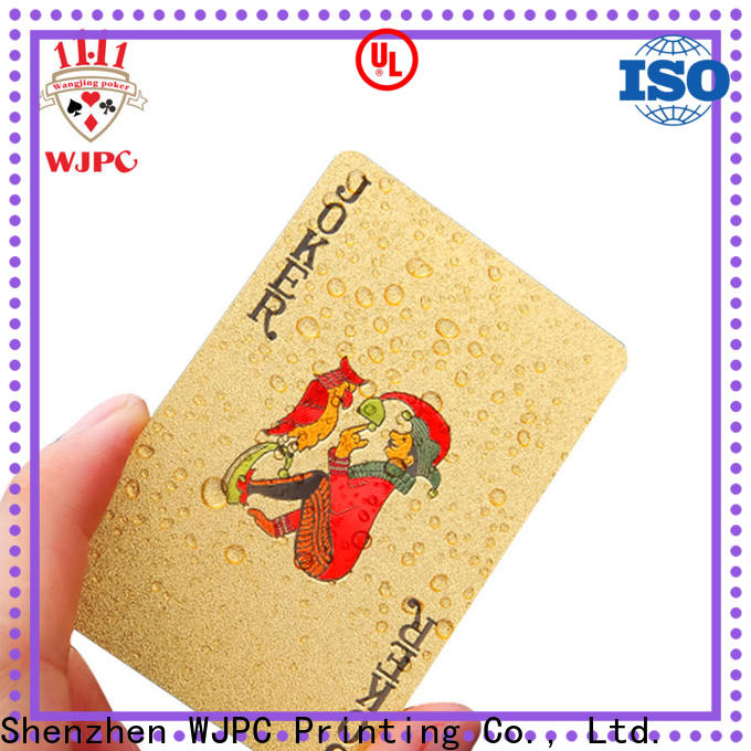 fashion 100 percent plastic playing cards full for sale for party