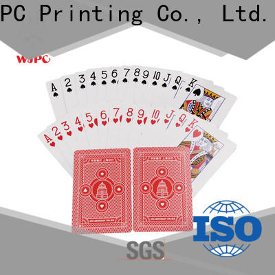 Best 100 percent plastic playing cards customized Suppliers for board game