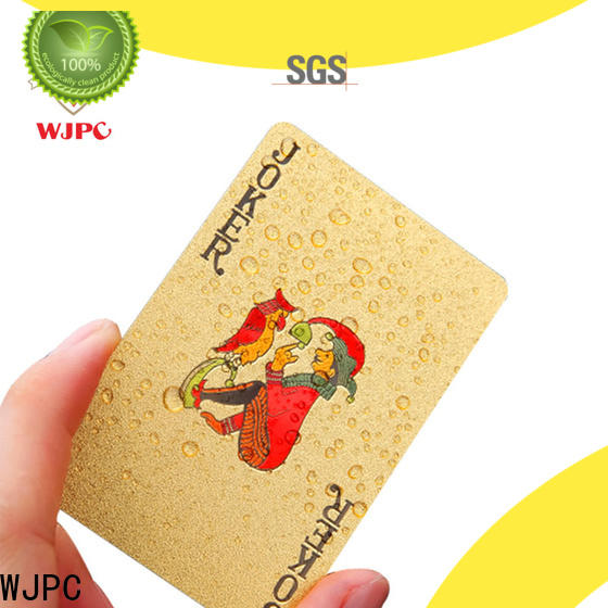 WJPC cards best plastic playing cards brand environmentally friendly for board game