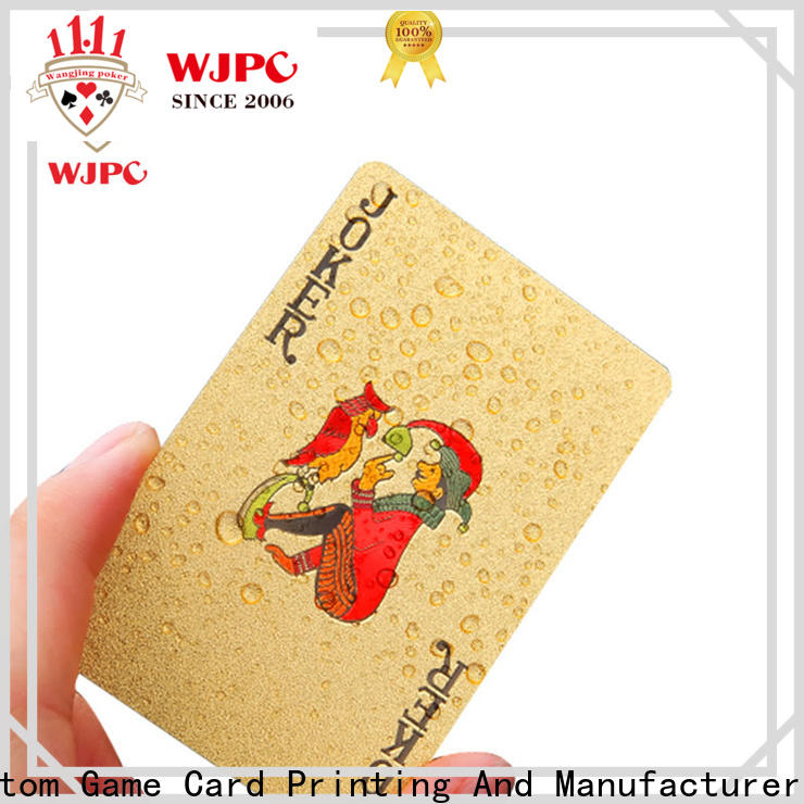 WJPC plastic gemaco plastic playing cards Supply for party