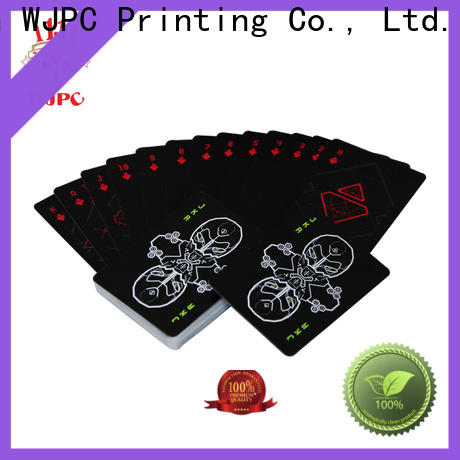 WJPC playing plastic playing cards manufacturers Supply for party
