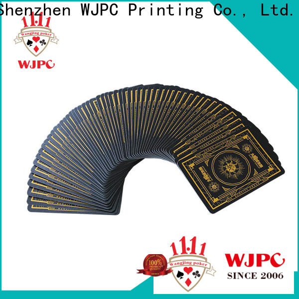 WJPC mystery quality plastic playing cards for business for game