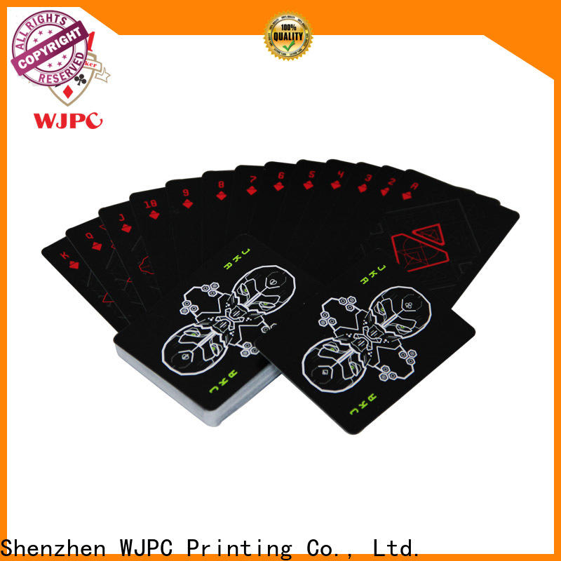 WJPC customized plastic washable playing cards company for party