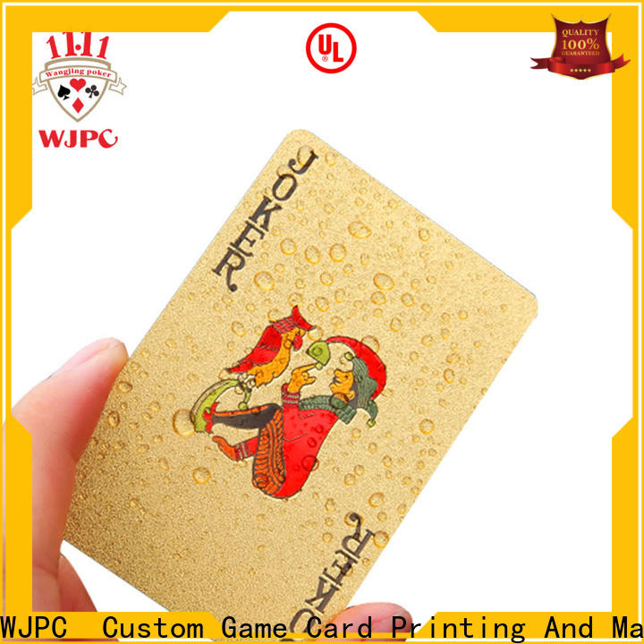 WJPC High-quality pvc poker cards in china for casino