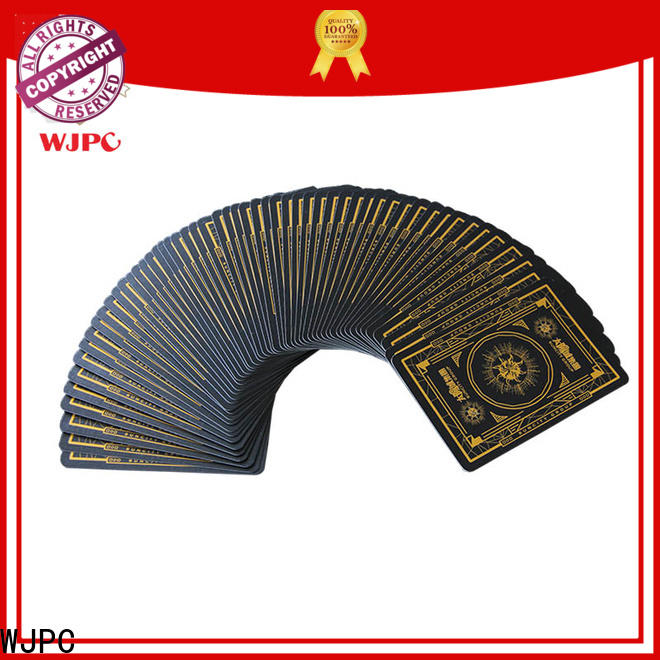 WJPC Best plastic playing cards manufacturers company for game