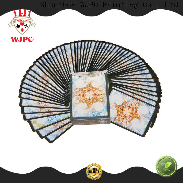 WJPC playing best quality plastic playing cards for business for casino