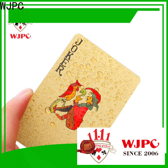 waterproof plastic poker playing cards plastic factory for casino