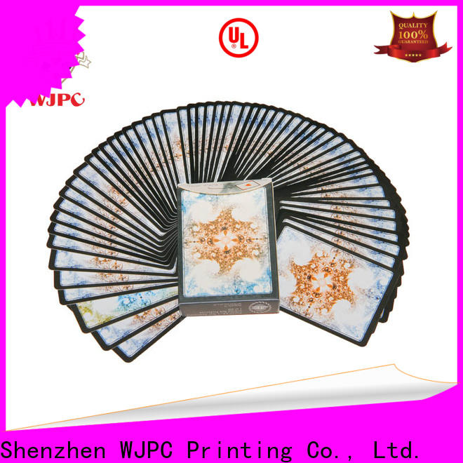 WJPC mysterious bulk plastic playing cards Supply for board game