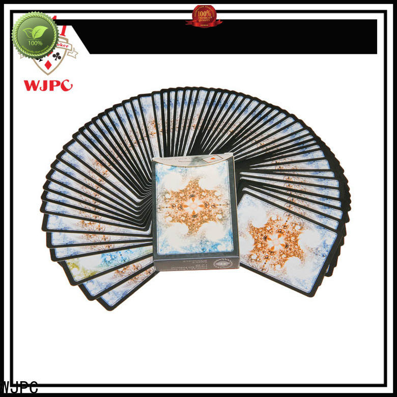 WJPC golssy top quality playing cards for bar