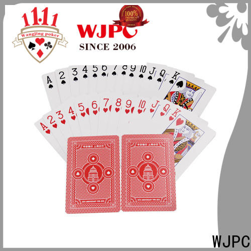WJPC fashion royal playing cards 100 plastic manufacturers for board game
