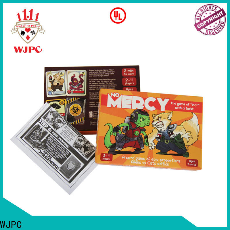 WJPC paper custom game card printing Suppliers for game