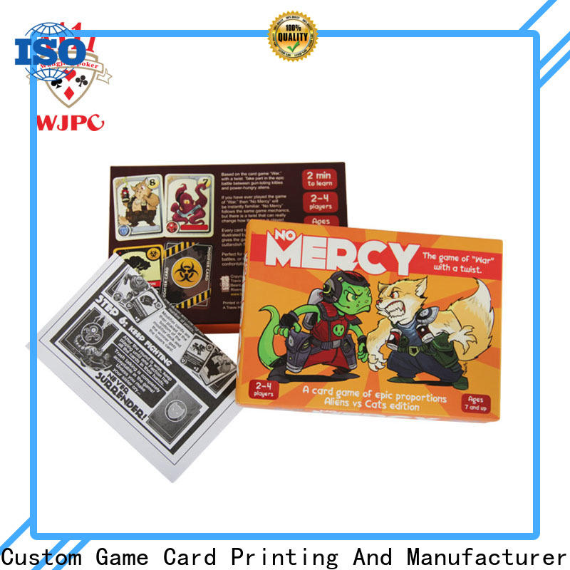 WJPC paper custom card game company for board game