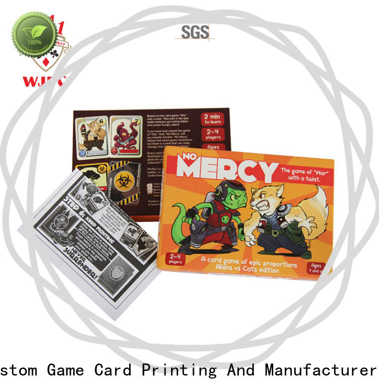 Latest custom game card printing game Supply for children