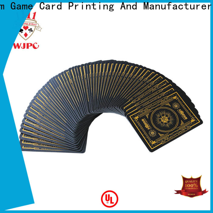 WJPC playing best plastic playing cards brand Suppliers for casino show