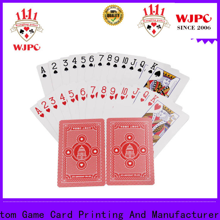 Top high quality plastic playing cards playing for business for kindergarten
