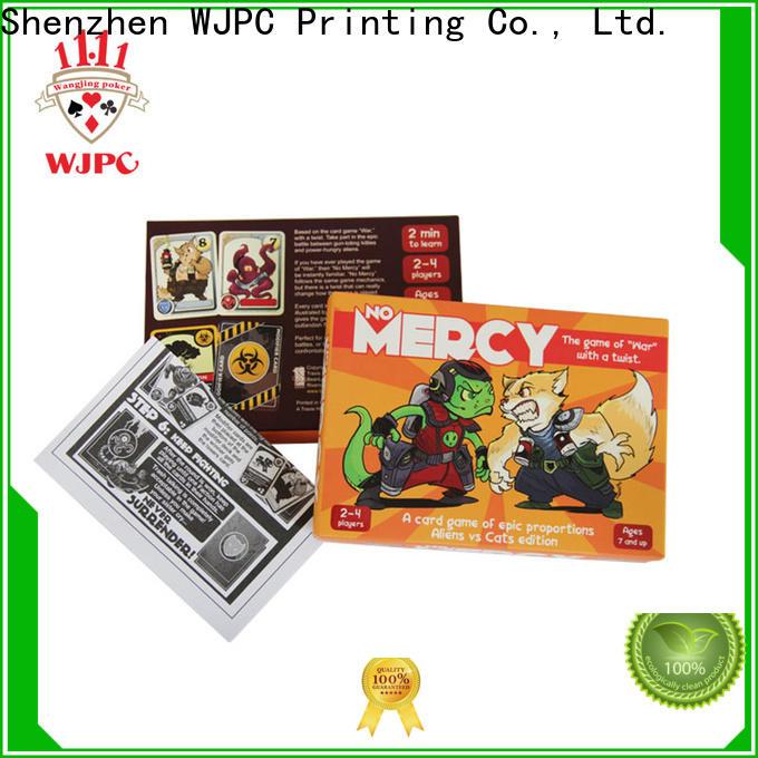WJPC mystery custom card game manufacturers