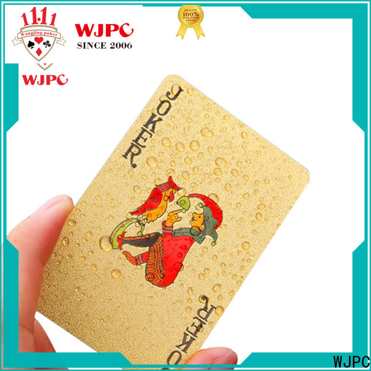 WJPC plastic 100 percent plastic playing cards Suppliers for kindergarten