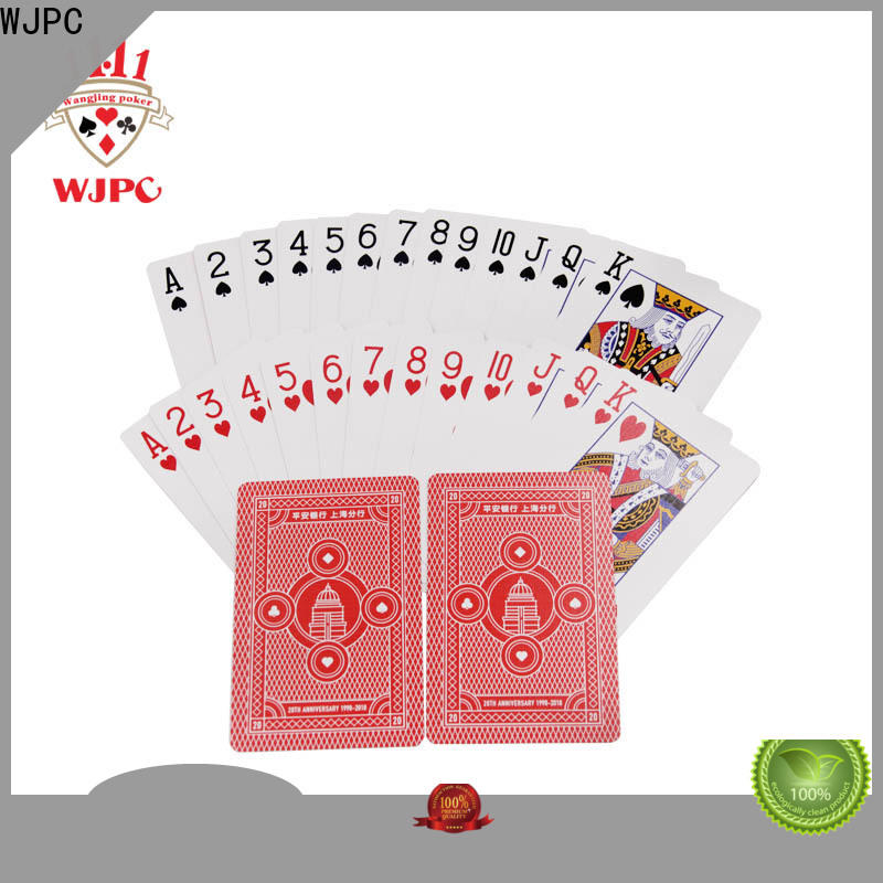 WJPC promotional plastic poker cards review Supply for board game