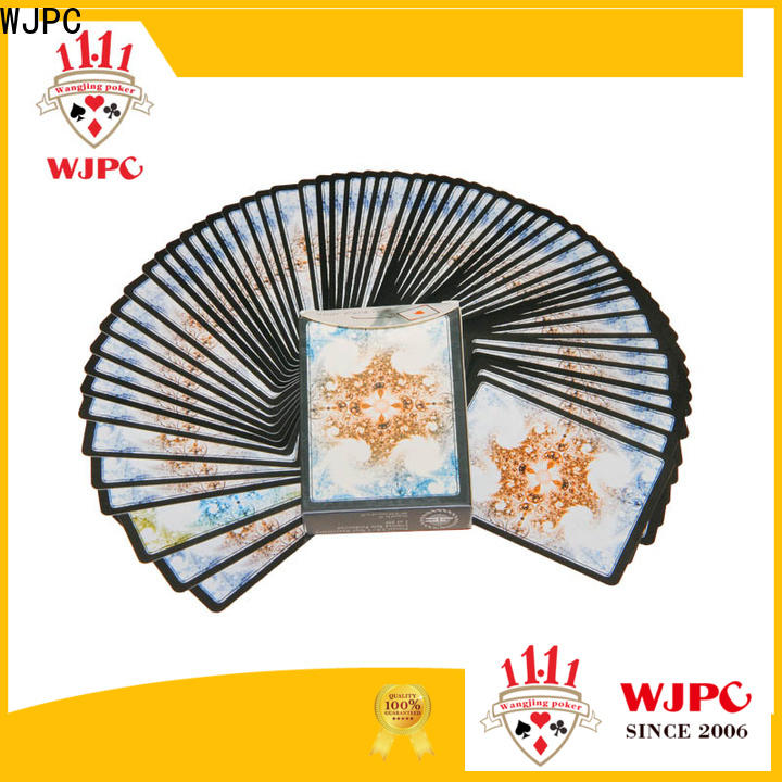 WJPC magic plastic washable playing cards for business for magic