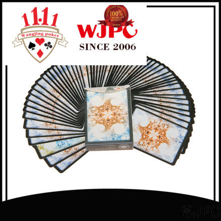WJPC cards hard plastic playing cards factory