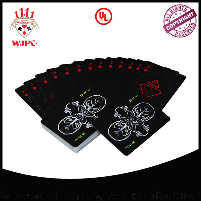 WJPC Top best quality plastic playing cards for business for game