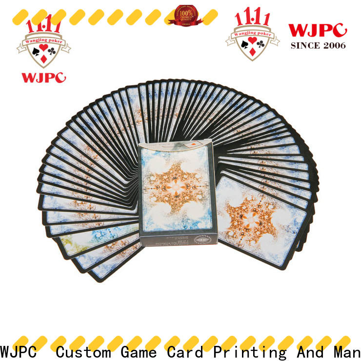 WJPC printing casino standard playing cards factory for children