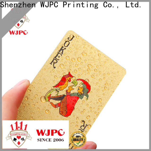 WJPC plastic high end poker cards company for children