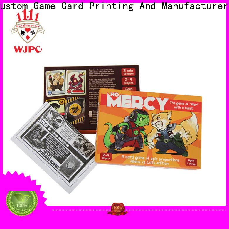 WJPC Custom personalized game cards for business for game