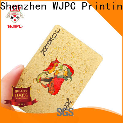 WJPC plastic official poker cards factory for game