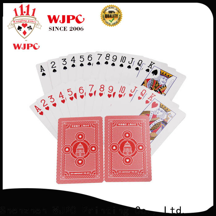 Top quality deck of cards promotional company for game