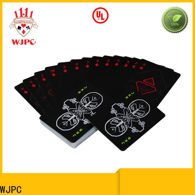WJPC Latest plastic deck of playing cards for business for children