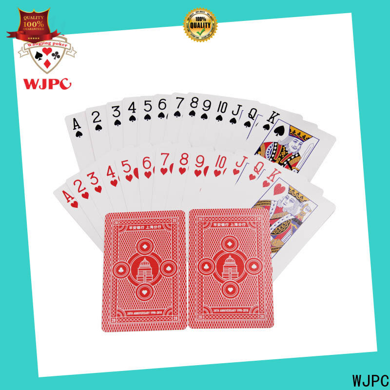 WJPC printed bulk plastic playing cards manufacturers for game