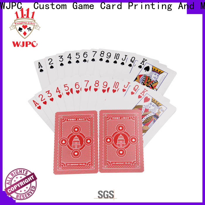 WJPC international playing cards custom printing Suppliers for party