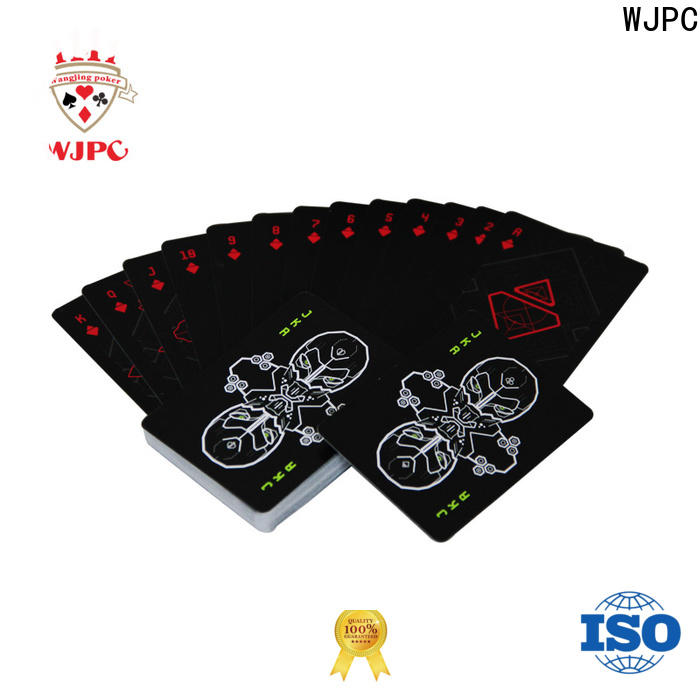 WJPC playing hard plastic playing cards Supply for bar